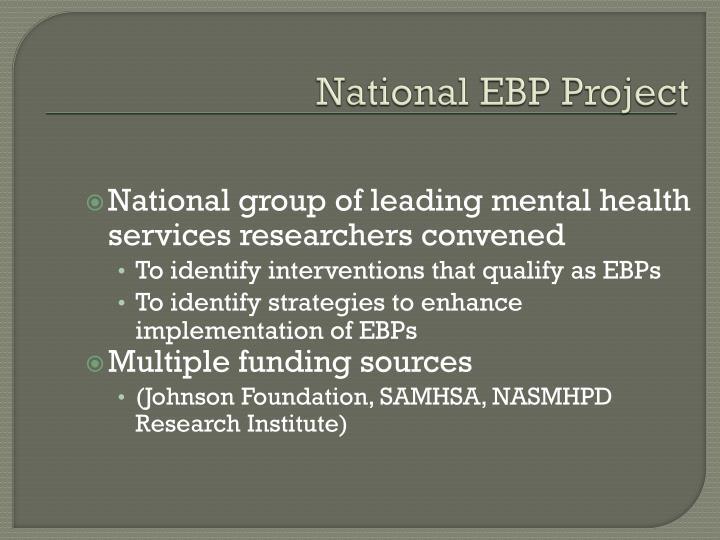 National EBP Project