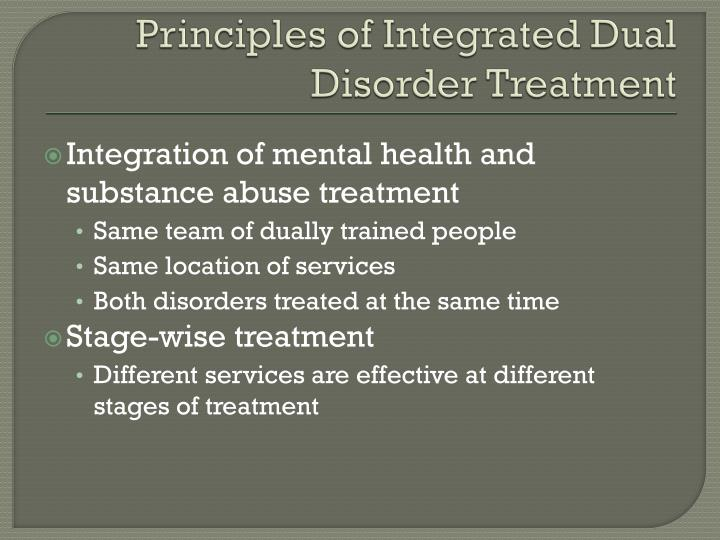 Principles of Integrated Dual Disorder Treatment