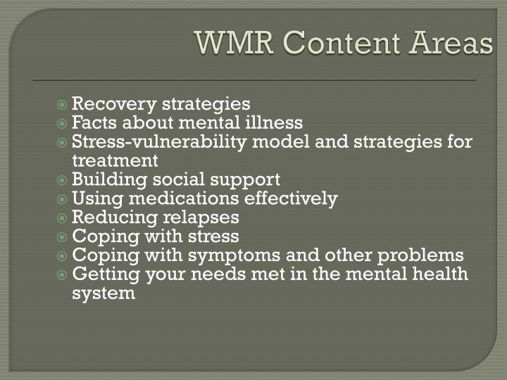 WMR Content Areas