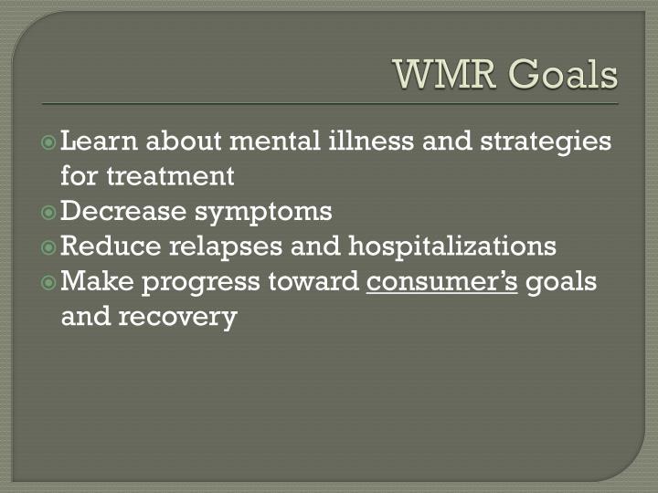 WMR Goals