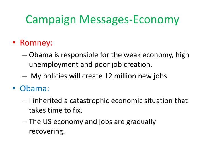 Campaign Messages-Economy