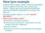 hare lynx example