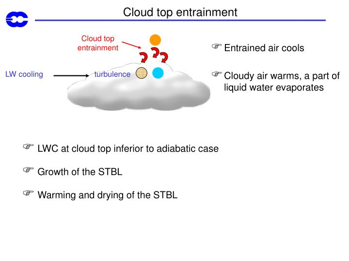Cloud top entrainment