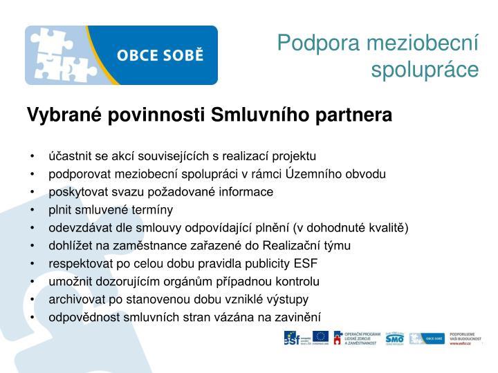Podpora meziobecní spolupráce