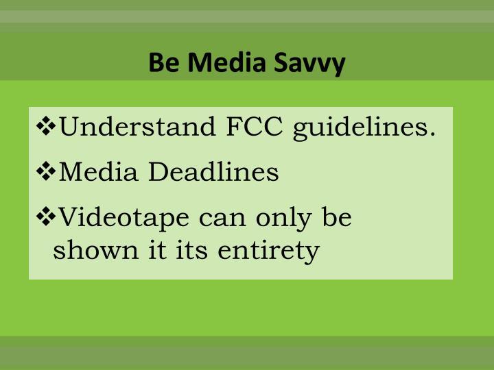 Be Media Savvy