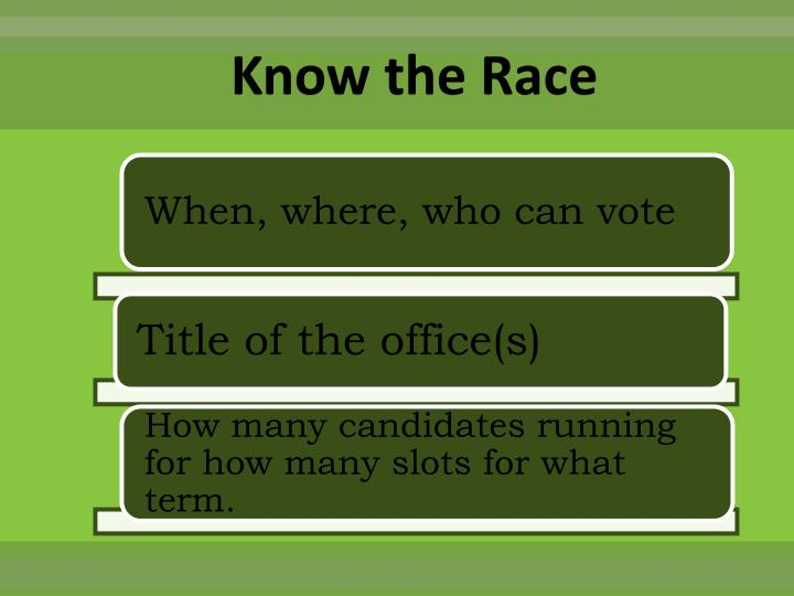 Know the Race