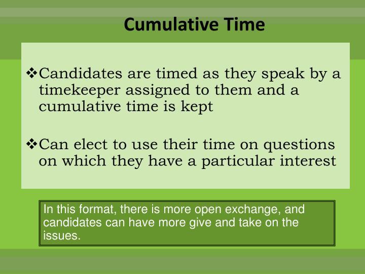 Cumulative Time
