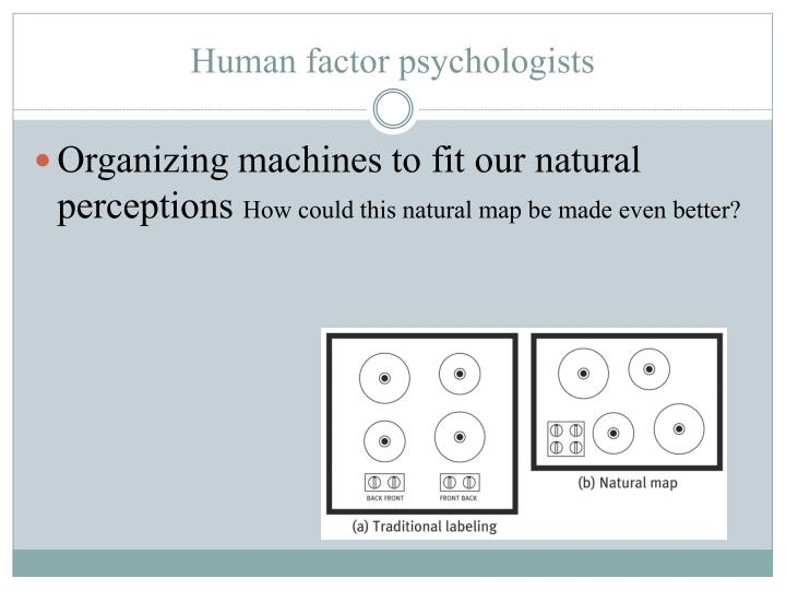 Organizing machines to fit our natural perceptions