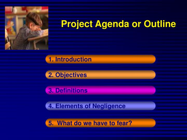 Project Agenda or Outline