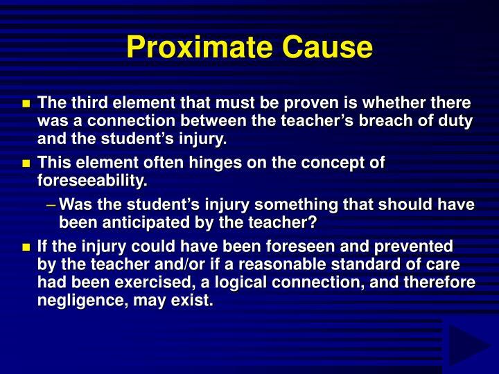Proximate Cause