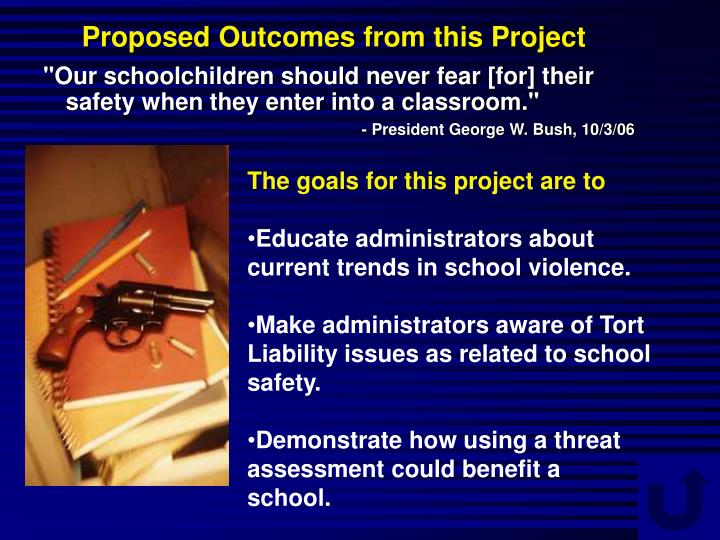 Proposed Outcomes from this Project
