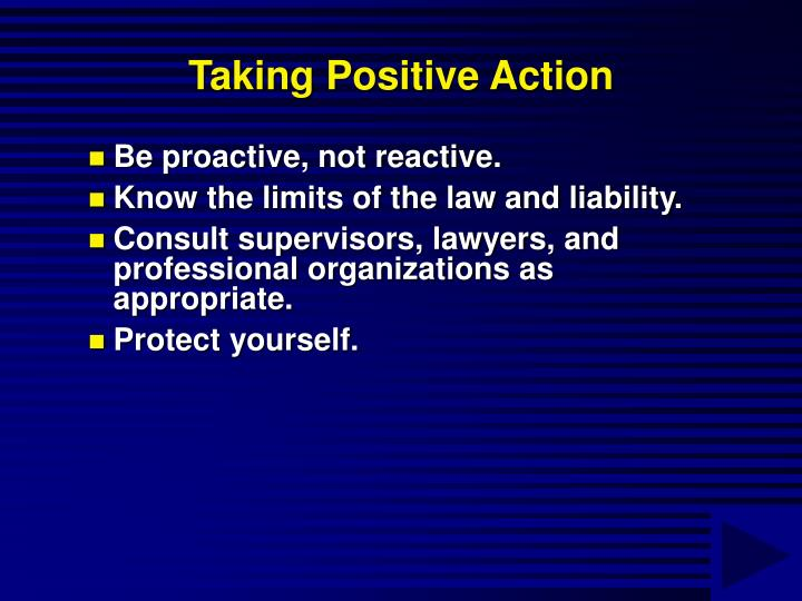 Taking Positive Action