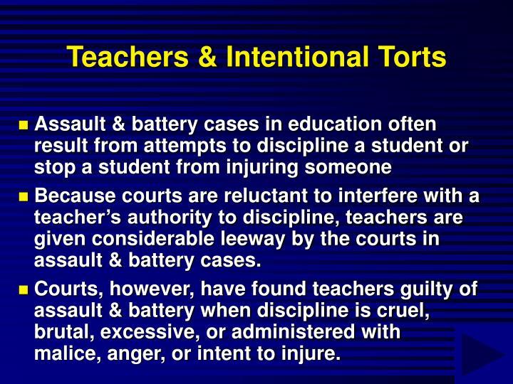 Teachers & Intentional Torts