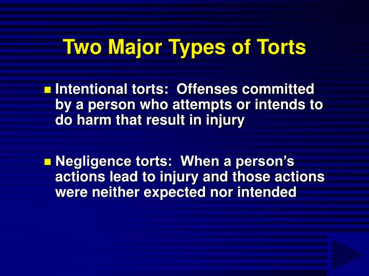 Two Major Types of Torts