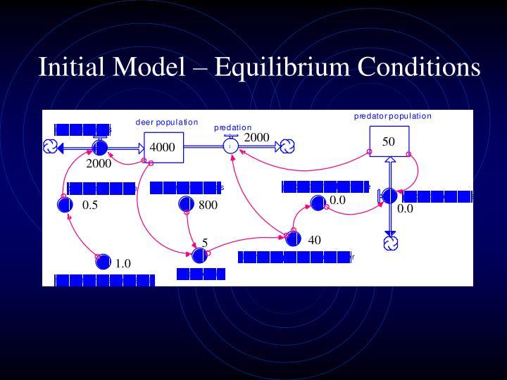 Initial Model – Equilibrium Conditions