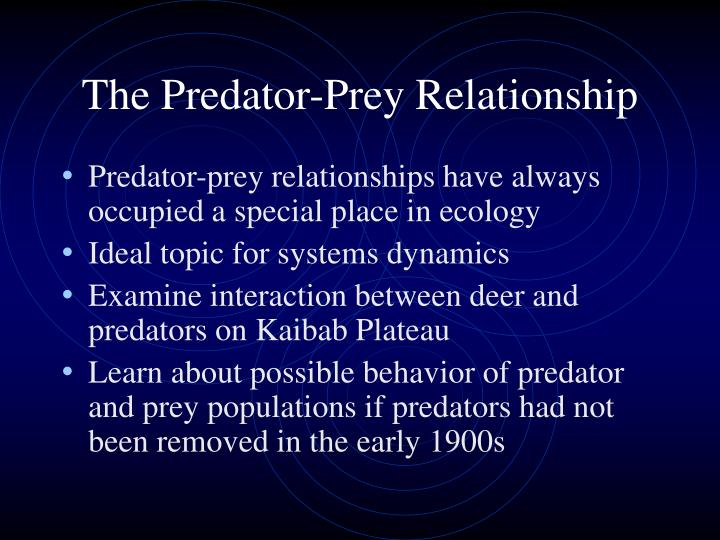 The Predator-Prey Relationship