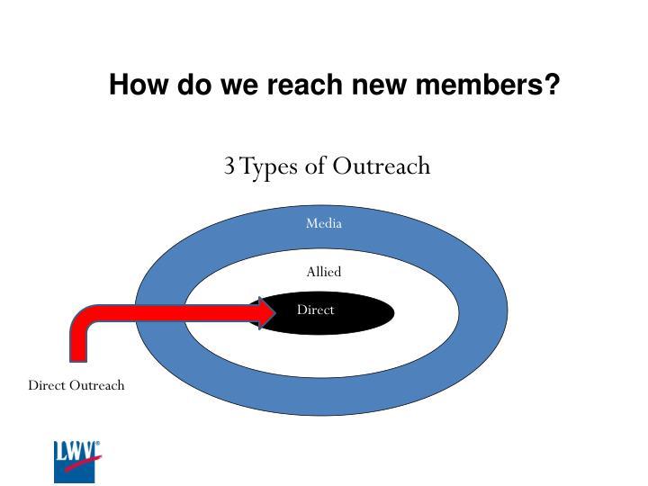 How do we reach new members?