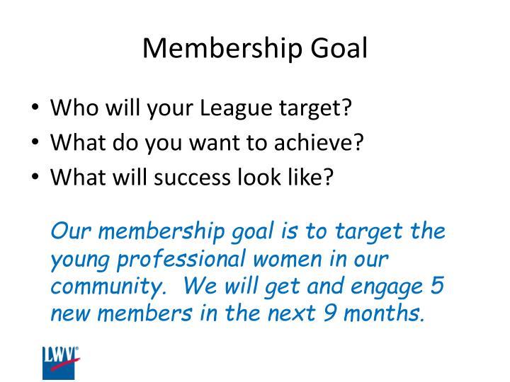 Membership Goal