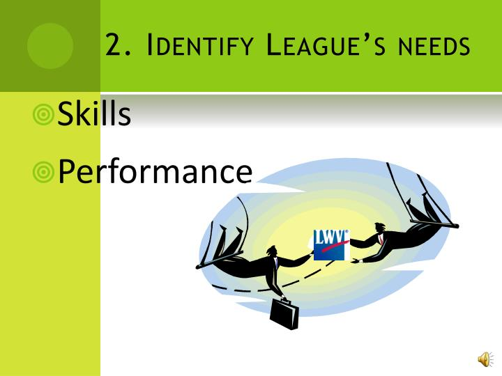 2. Identify League's needs