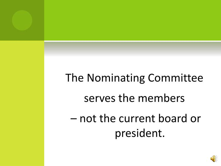 The Nominating Committee