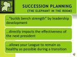 succession planning the elephant in the room