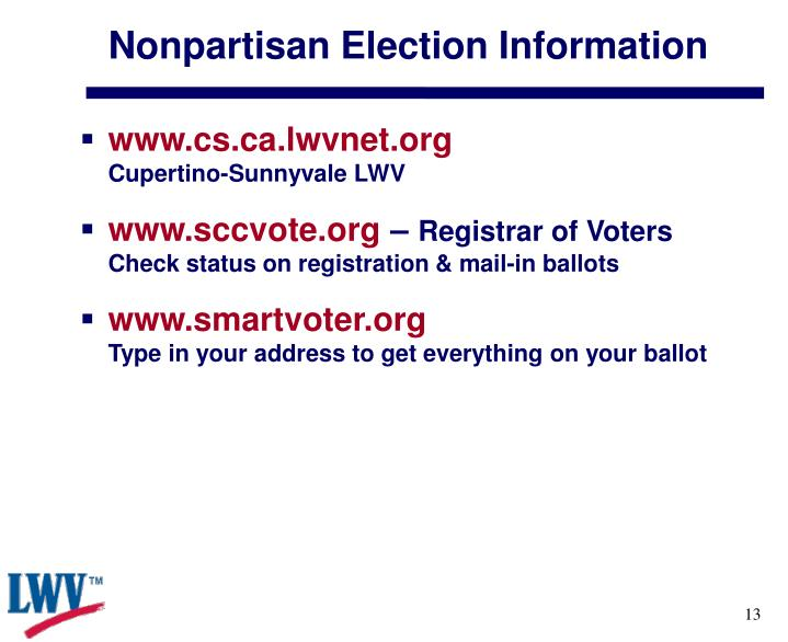 Nonpartisan Election Information