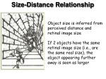 size distance relationship