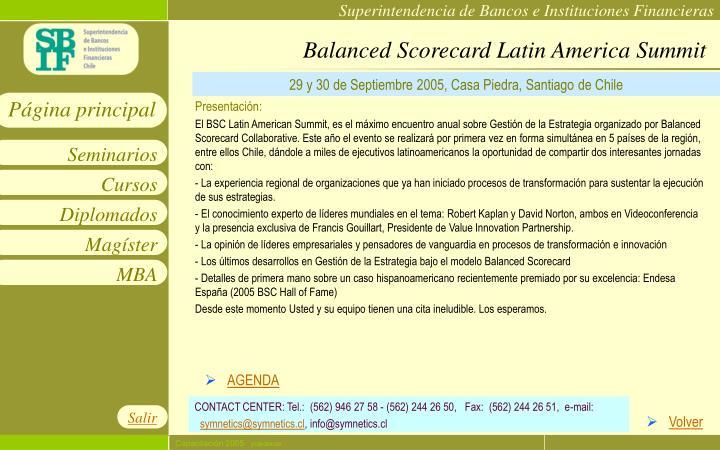 Balanced Scorecard Latin America Summit