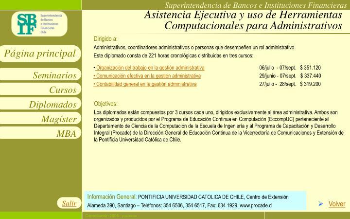 Asistencia Ejecutiva y uso de Herramientas Computacionales para Administrativos