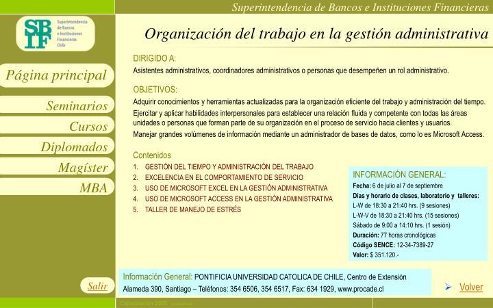 Organización del trabajo en la gestión administrativa