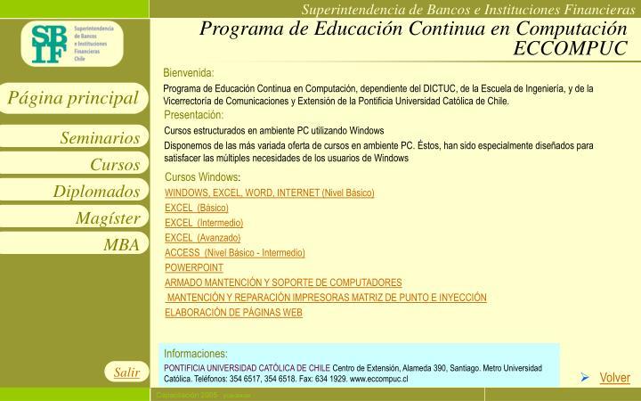 Programa de Educación Continua en Computación