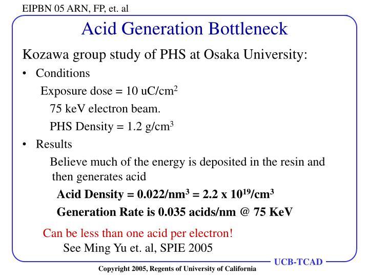 Acid Generation Bottleneck