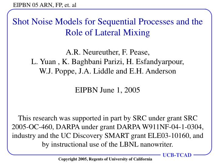 Shot Noise Models for Sequential Processes and the Role of Lateral Mixing