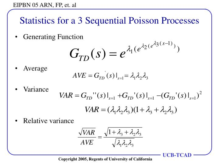 Statistics for a 3 Sequential Poisson Processes
