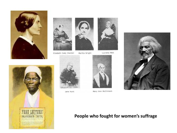People who fought for women's suffrage