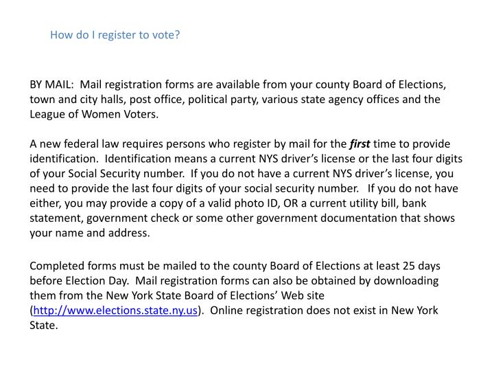 How do I register to vote?