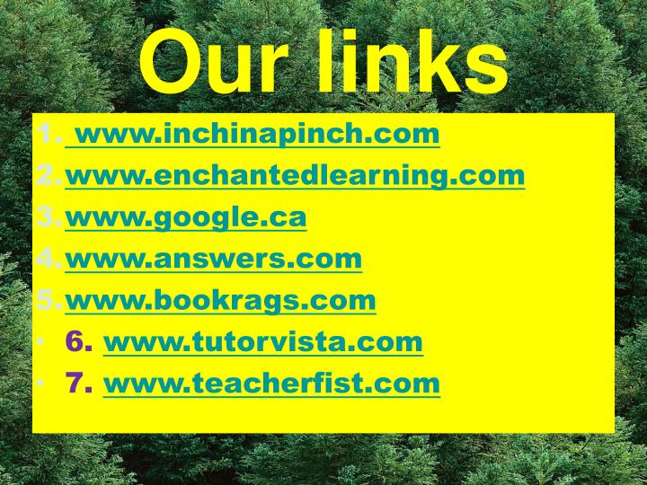 Our links