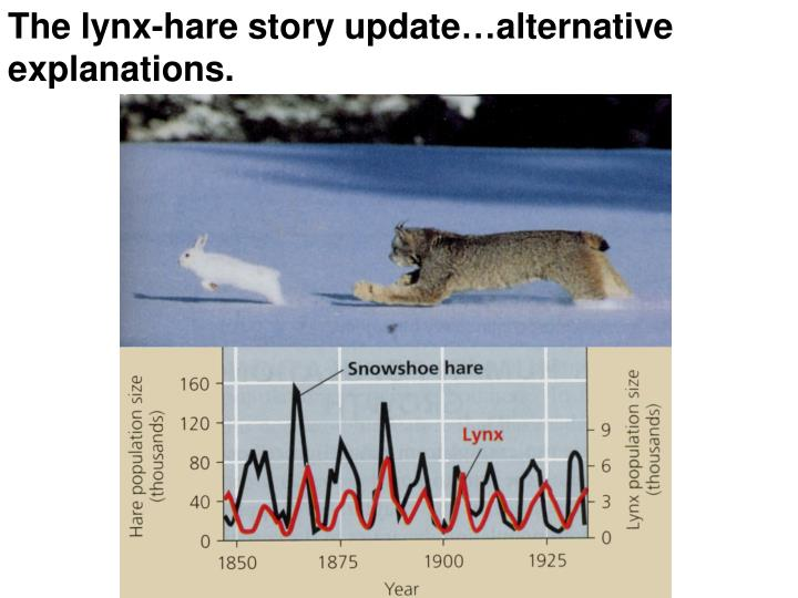 The lynx-hare story update…alternative explanations.