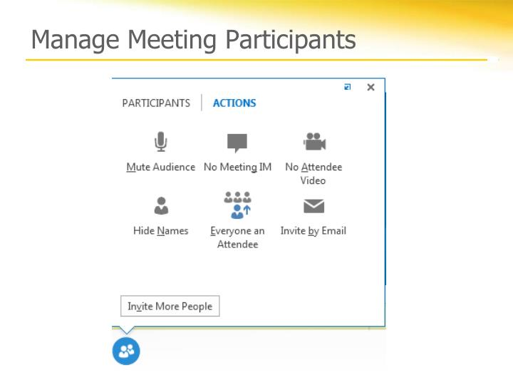 Manage Meeting Participants