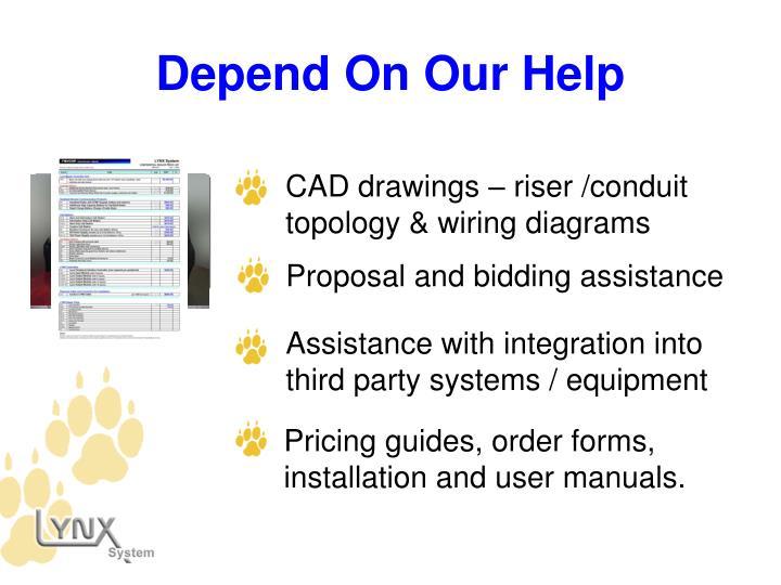 CAD drawings – riser /conduit topology & wiring diagrams