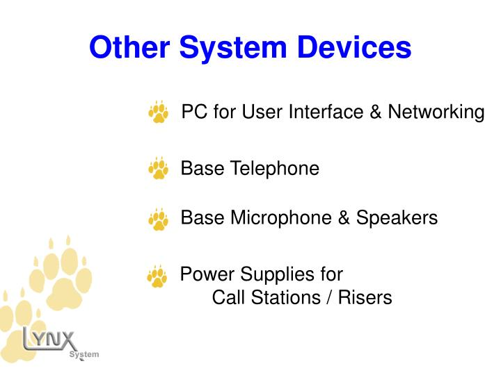 PC for User Interface & Networking