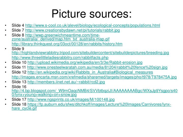 Picture sources: