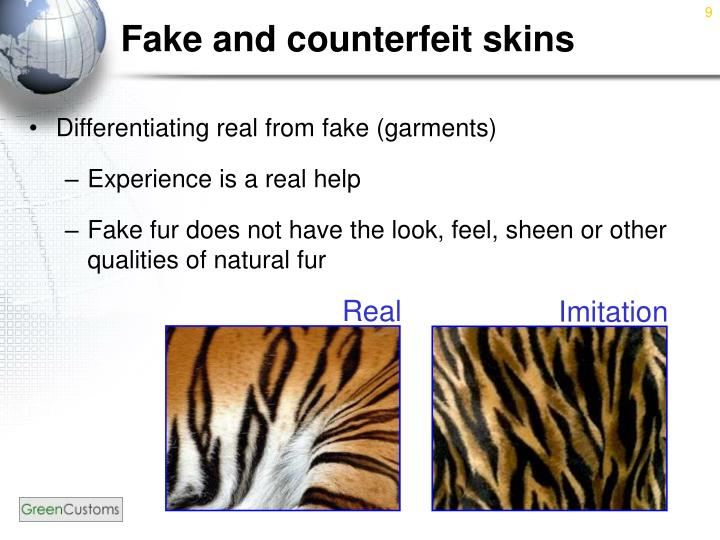 Fake and counterfeit skins