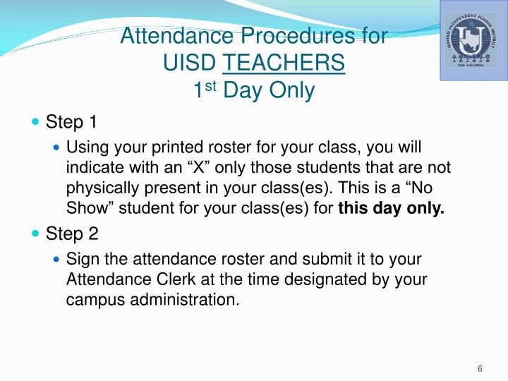 Attendance Procedures for