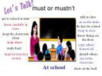 must or mustn t