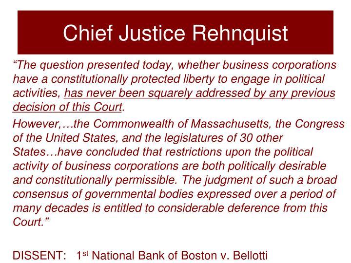 Chief Justice Rehnquist
