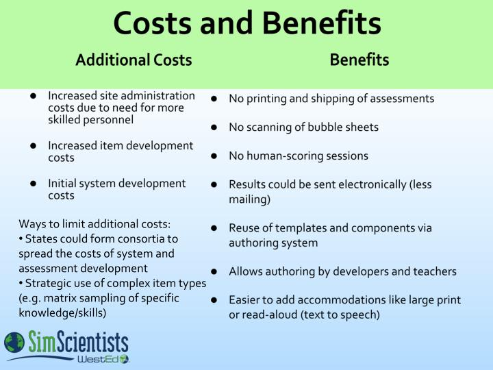 Costs and Benefits