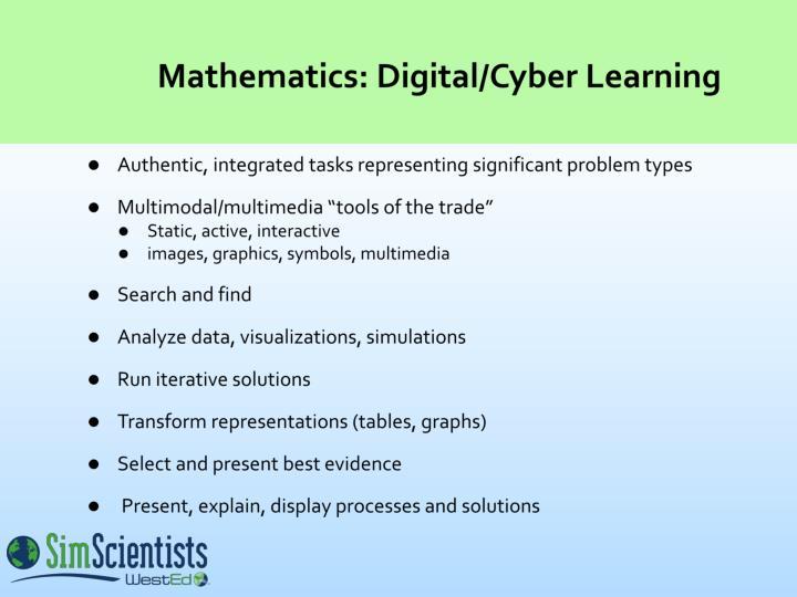 Mathematics: Digital/Cyber Learning