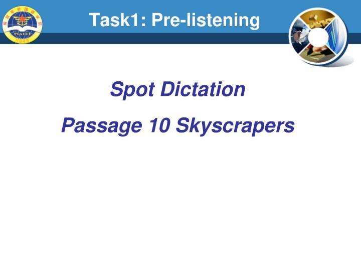 Task1: Pre-listening