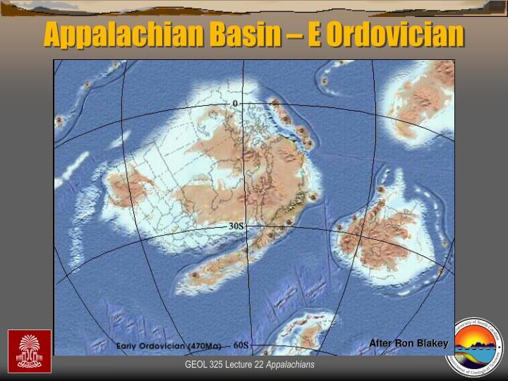 Appalachian Basin – E Ordovician